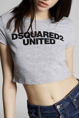 D2 Cropped Top UNITED, grey