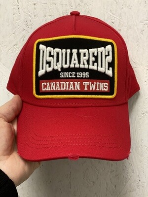 D2 Cap CANADIAN TWINS, red