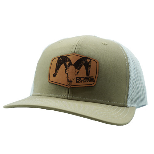 Ross Outdoors Ram Patch 112 Khaki & White