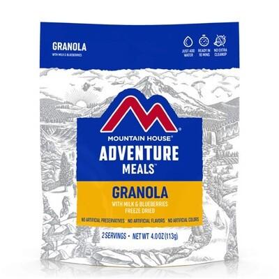 Mountain House Granola with Milk & Blueberries