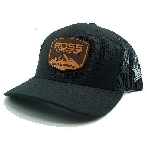 Ross Outdoors Crest Black Patch Hat
