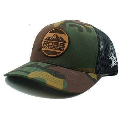 Ross Outdoors Camo Circle Patch Hat
