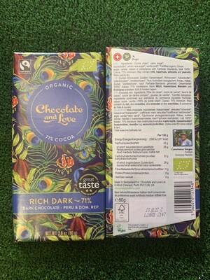 Chocolat 71% BIO 80grs