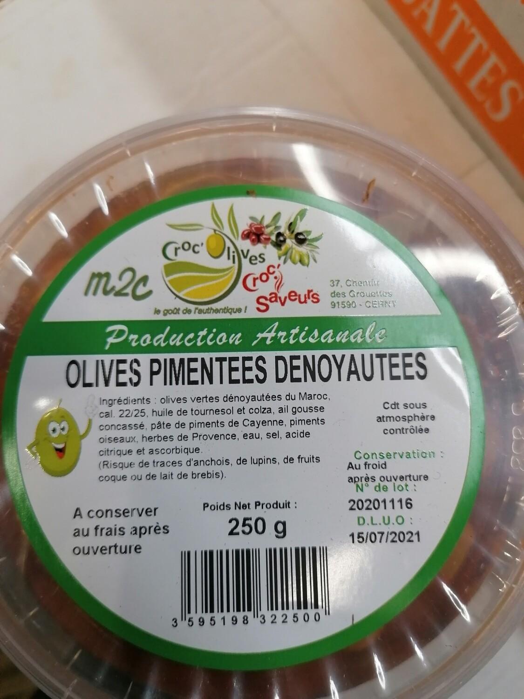Olives pimentées dénoyautées