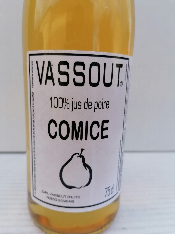 Jus 100 % poires Vassout 1 litre
