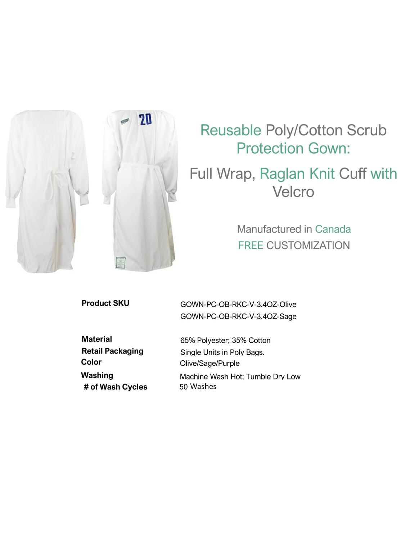 Reusable Cotton Gown