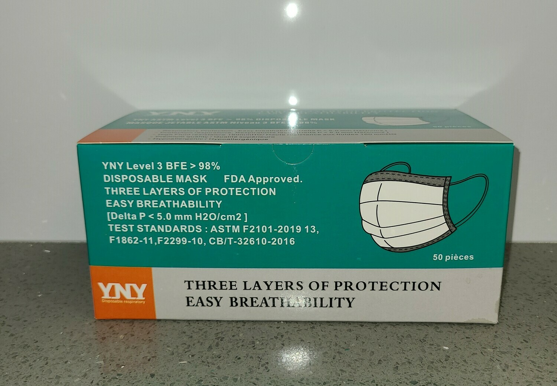 Surgical Mask Level 3 (Box of 50)