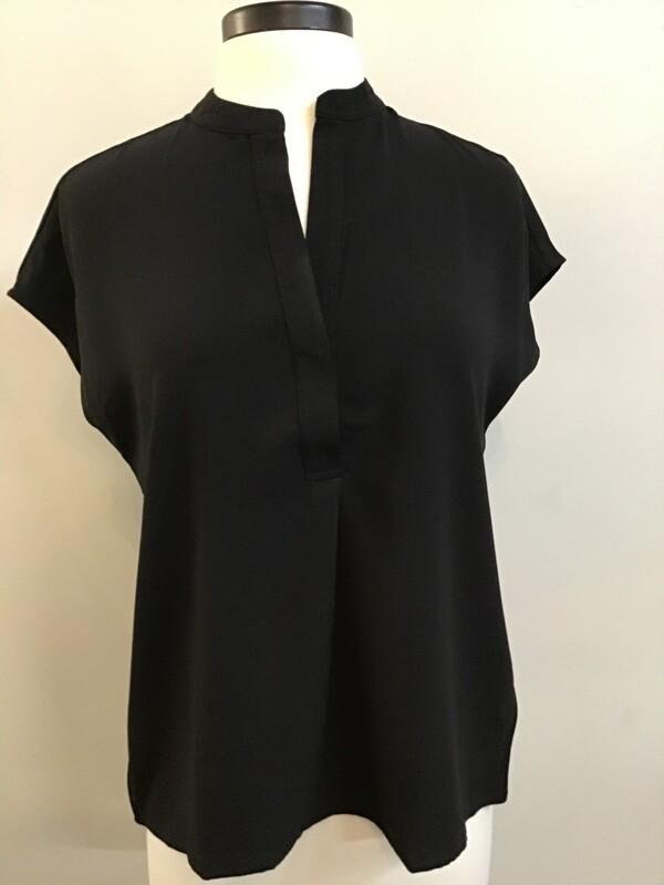 Cap Sleeve V-Neck Blouse 105-8-20