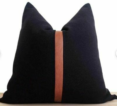 "Antibes Pillow - Black 19"" x 19"""