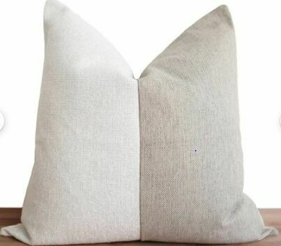 "CB005 Ascentia Pillow - White/Oatmeal 23"" x 23"""