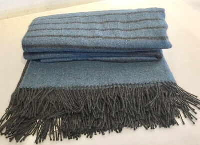 AP902 Blue Ombre Baby Alpaca Throw