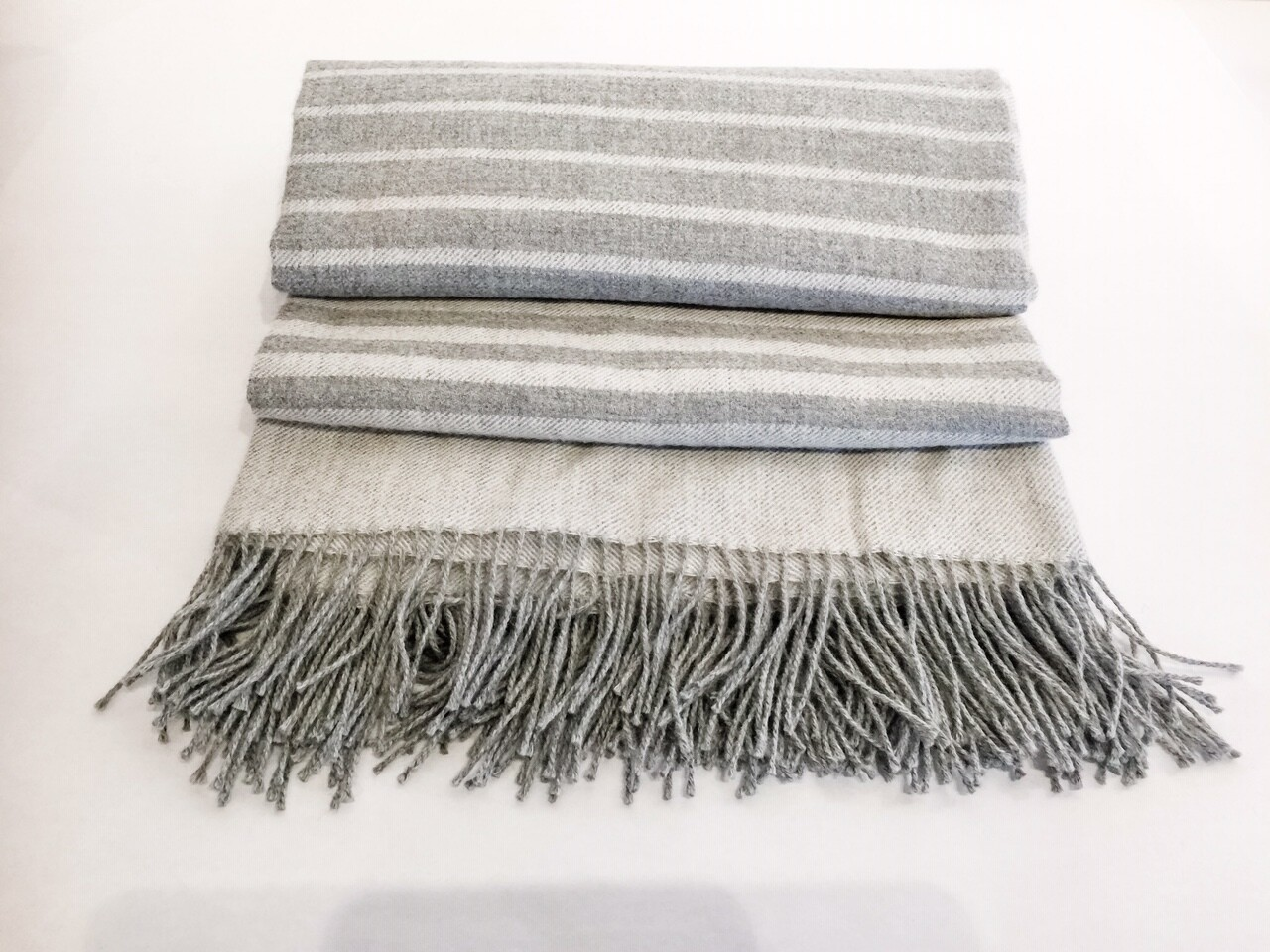 AP904 Grey Ombre Baby Alpaca Throw