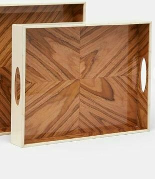 MG001a Dixon Tray - Natural Teak Veneer - Small