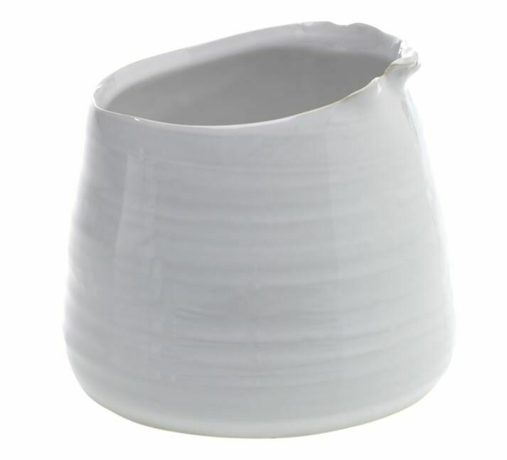 Small Freeform Pot in White