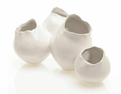 Quad White Pod Vase