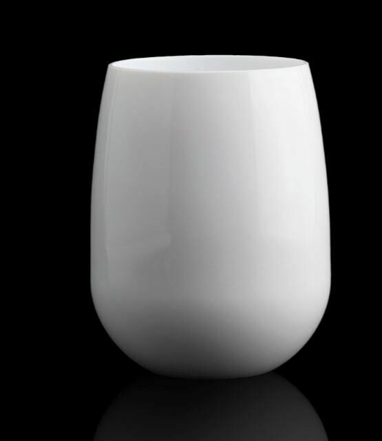 SS002 White Acrylic Stemless Wineglass