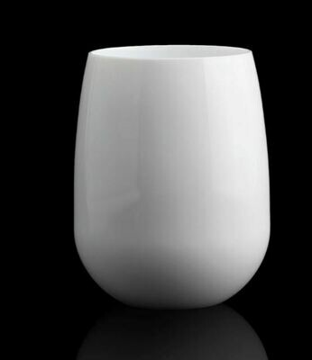 Stemless Wineglass in White Acrylic