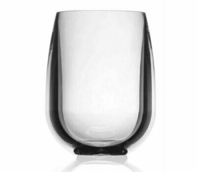 SS001 Clear Acrylic Stemless Wineglass