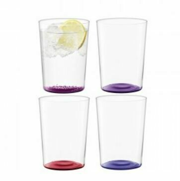 Scandi Thin Glass Tumblers - Large Set/4 - Berries