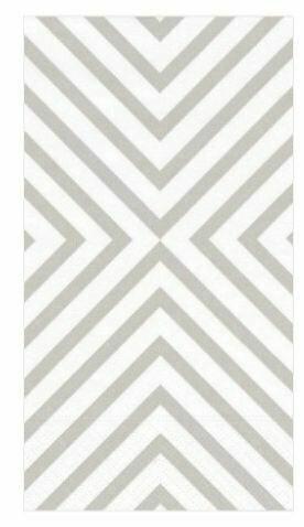CR001 Chevron Pale Silver - Guest Towel