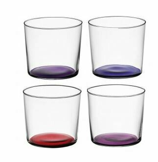 LS012 Scandi Thin Glass Small Tumblers - Set/4 - Berries