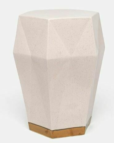 Blush Ceramic Stool/Accent Table