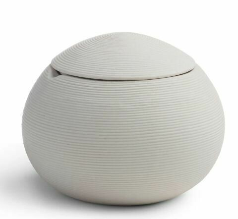 KX008 White Porcelain Cotton Jar