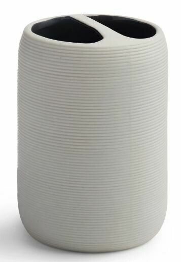 White Porcelain Toothbrush Holder