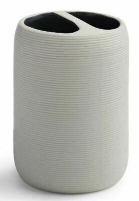 KX007 White Porcelain Toothbrush Holder