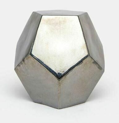 Gilded Crackled Hexagonal Stool + Side Table