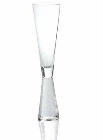 Etched Stem Champagne Glass