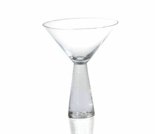 ZX003 Etched Stem Martini Glass