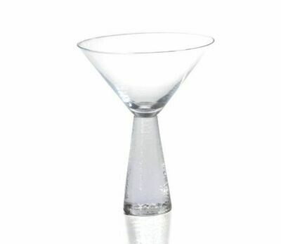 Etched Stem Martini Glass