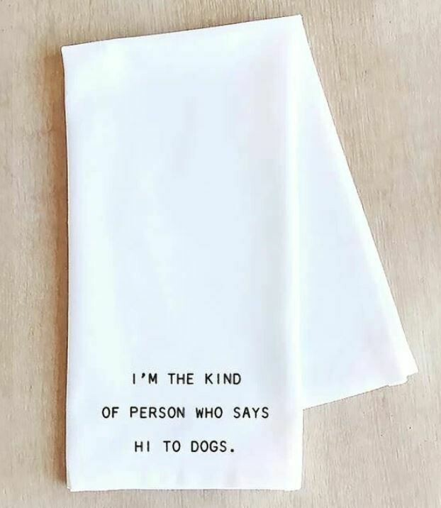 DE016 Hi To Dogs	Tea Towel