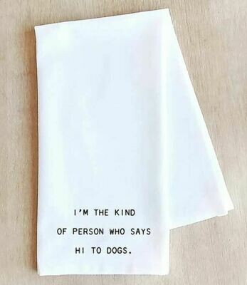 DE016 Hi To DogsTea Towel