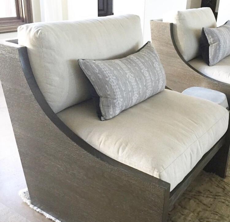 Bali Wood Framed Lounge Chair