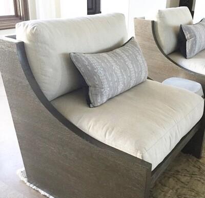 MK200 Bali Wood Framed Lounge Chair