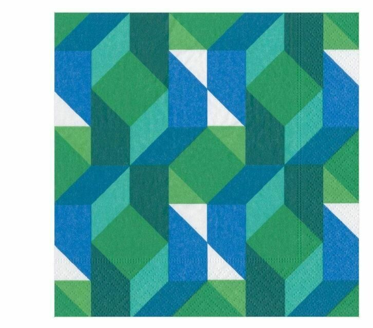CR021 Color Theory Green Cocktail Napkins