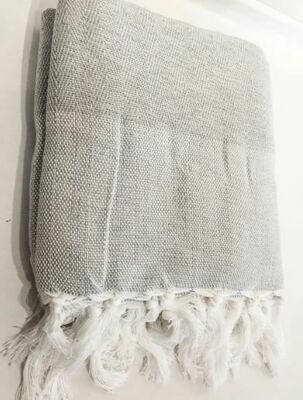 SL017 Cotton Linen Throw Chevron Pattern Grey
