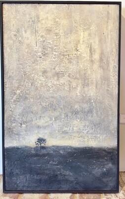 "Embedded Tree - Brown Bottom 29"" x 19.5"""