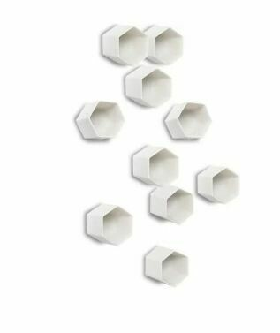 GL112 White Hexagon Wall Decor-Set of 20