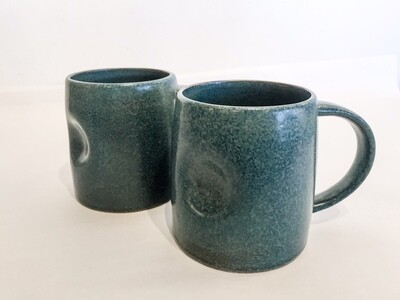 BV142 Stoneware Mug - Matte Reactive Glaze - Grey or Black