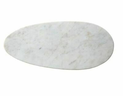 Oval Cheese Board White Marble