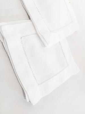 SO037 Hemstitched Napkins - White 6