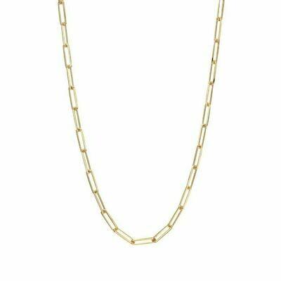 TD463 Gold Oblong Vermeil Necklace - 16