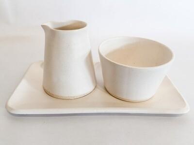 ES002 Cream & Sugar Set- White