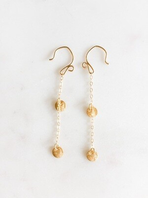 Gold Vermeil Disk Chain Earrings