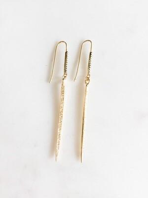 Gold Vermeil Spike Earrings