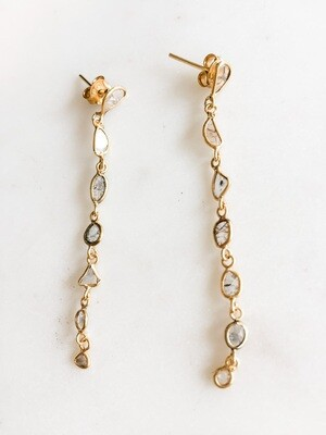Sliced Diamond Vermeil Earrings