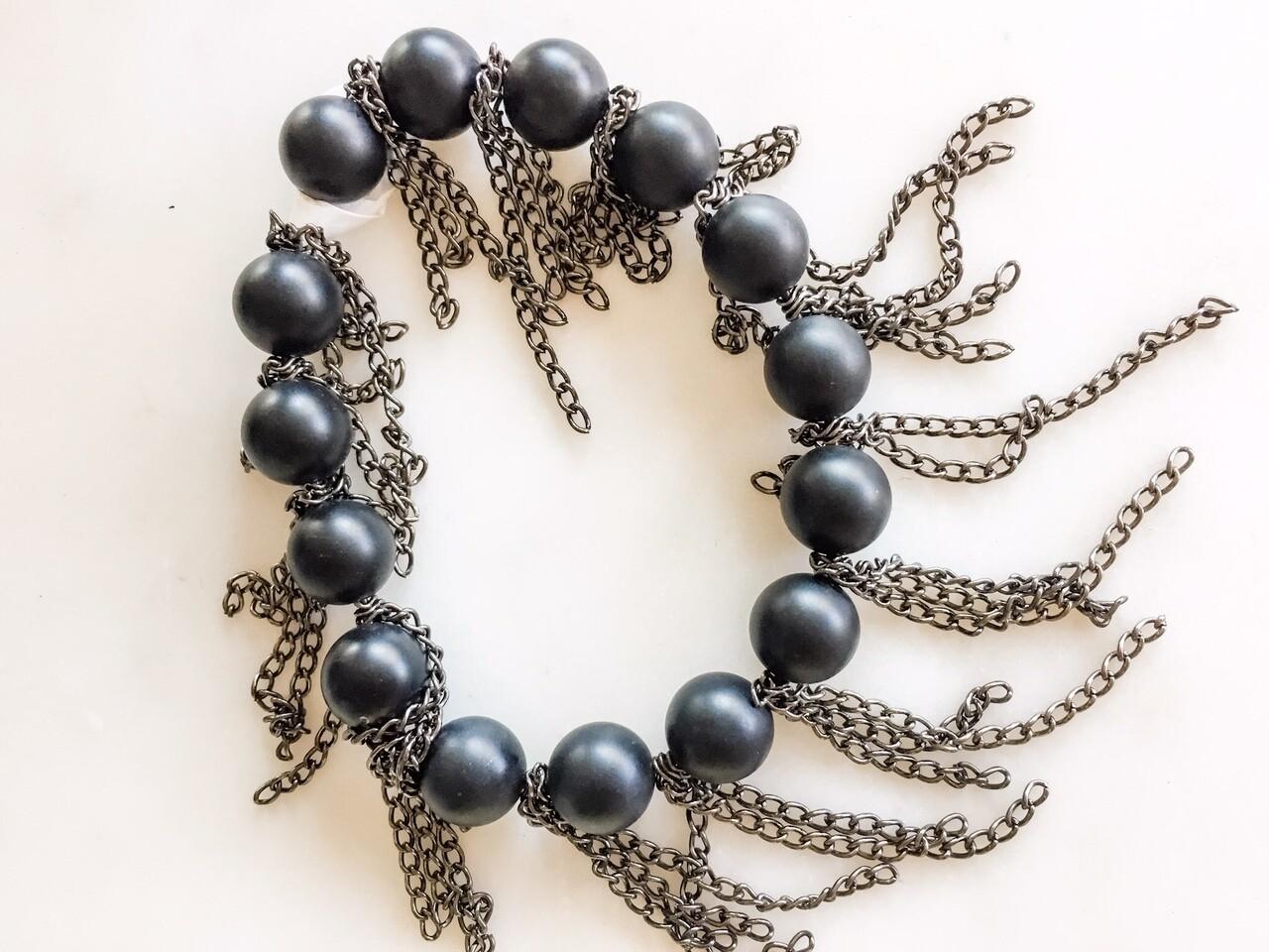 PN095 Onyx Chain Bracelet